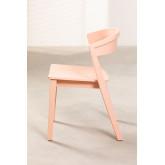 Chaise empilable en bois de gingembre, image miniature 2