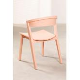 Chaise empilable en bois de gingembre, image miniature 3