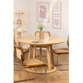 Table à manger ronde en bois (Ø120 cm) Celest, image miniature 1