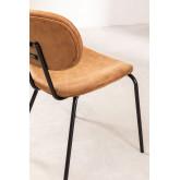 Chaise de salle à manger en similicuir Abix, image miniature 4