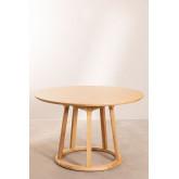 Table à manger ronde en bois (Ø120 cm) Celest, image miniature 2