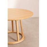 Table à manger ronde en bois (Ø120 cm) Celest, image miniature 3