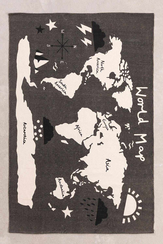 Tapis en coton (180x120 cm) Carte, image de la galerie 1