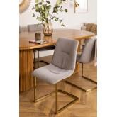 Chaise de salle à manger rembourrée en velours Dubhar, image miniature 1