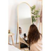 Miroir sur pied en bois de pin (137x45,5 cm) Naty, image miniature 1