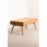 Table basse en bois de teck Memphis, image miniature 3
