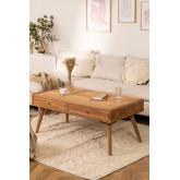 Table basse en bois de teck Memphis, image miniature 1