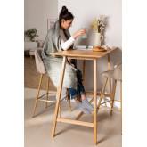Table haute en bois Kerhen, image miniature 1