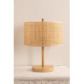 Lampe de table en rotin et métal Bizay, image miniature 3