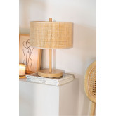 Lampe de table en rotin et métal Bizay, image miniature 1
