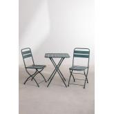 Ensemble de tables pliantes Janti (60x60 cm) et 2 chaises de jardin pliantes Janti, image miniature 2