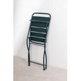 Ensemble de tables pliantes Janti (60x60 cm) et 2 chaises de jardin pliantes Janti, image miniature 6