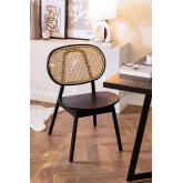 Chaise en bois d'orme Afri, image miniature 1