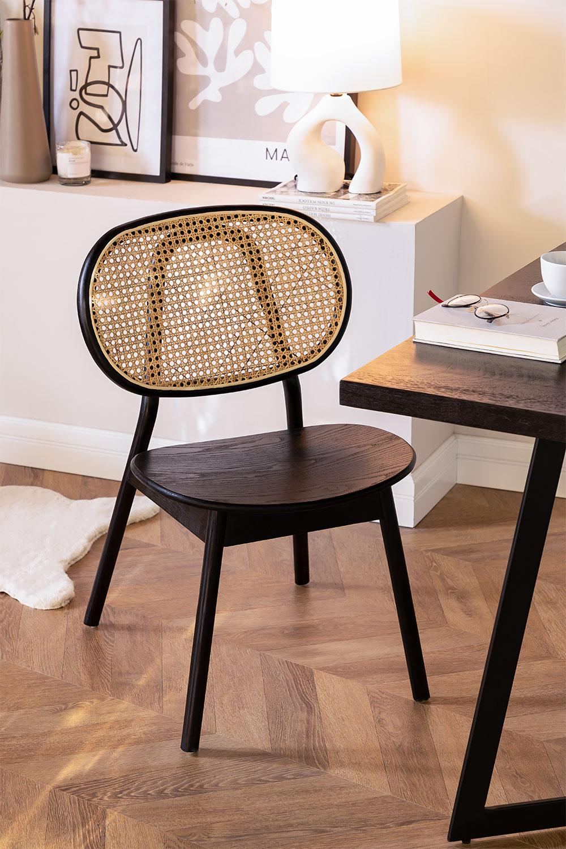 Chaise en bois d'orme Afri, image de la galerie 1