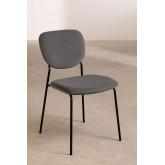 Chaise de salle à manger rembourrée en velours Taris, image miniature 2