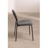 Chaise de salle à manger rembourrée en velours Taris, image miniature 4