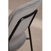 Chaise de salle à manger rembourrée en velours Taris, image miniature 5