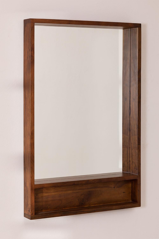 Miroir mural rectangulaire en bois (120x80 cm) Bartel, image de la galerie 1