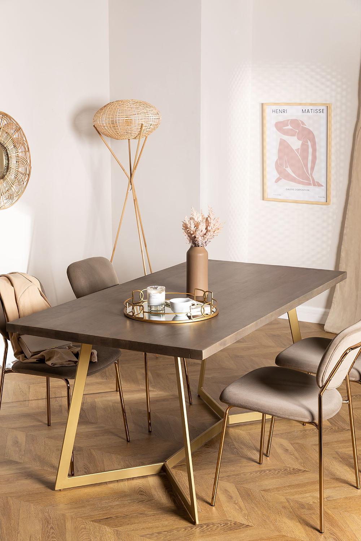 Table à manger rectangulaire en manguier (170x90 cm) Gledi , image de la galerie 1