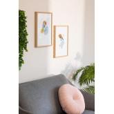 Lot de 2 feuilles décoratives Gerb (30x40 cm), image miniature 1