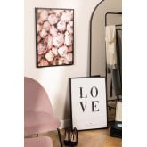 Lot de 2 tableaux décoratifs (50x70 cm) Rose Love, image miniature 1