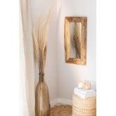 Miroir mural en bois de teck Unax, image miniature 1