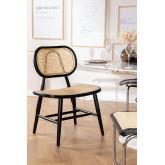 Chaise de salle à manger en bois Leila Elm, image miniature 1