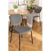 Chaise de salle à manger rembourrée en velours Taris, image miniature 1