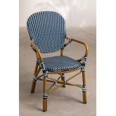 Chaise de jardin en osier synthétique Alisa, image miniature 1