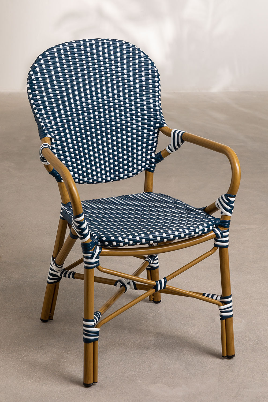 Chaise de jardin en osier synthétique Alisa, image de la galerie 1