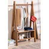 Porte-manteau en bois recyclé Arcieh, image miniature 1