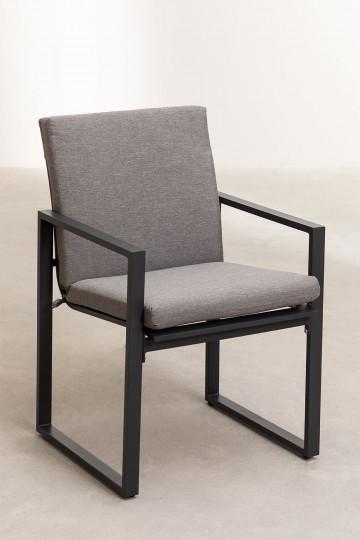 Lot 4 chaises avec accoudoirs d'extérieur Fhati