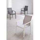 Lot 4 chaises d'extérieur Eika en aluminium, image miniature 6