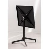 Table de bar pliante et transformable en 2 hauteurs en acier (60x60 cm) Dely , image miniature 6