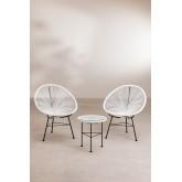 Set 2 Chaises & 1 Table en Polyéthylène et Acier New Acapulco, image miniature 2