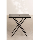 Table de jardin pliante en acier (77x77 cm) Dreh , image miniature 3
