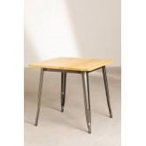 Table à manger carrée en bois (80x80) LIX Brossé, image miniature 2