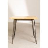 Table à manger carrée en bois (80x80) LIX Brossé, image miniature 3