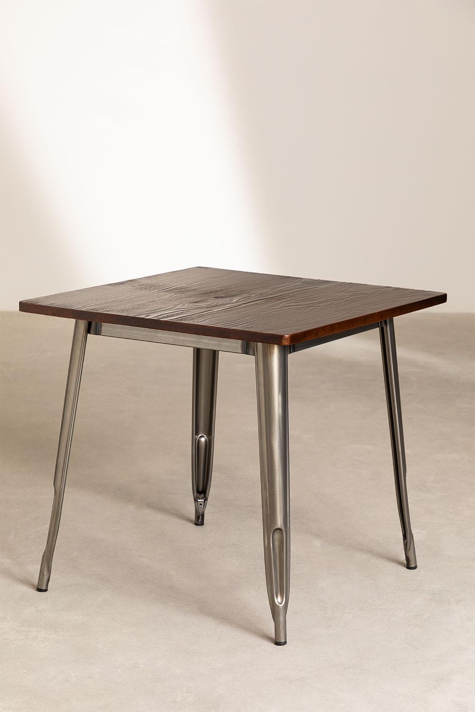 Table LIX brossée en Bois (80x80), image de la galerie 1