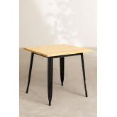 Table LIX Vintage en Bois (80x80), image miniature 2