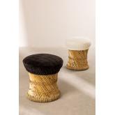 Tabouret Bas en Bambou Thëss, image miniature 1