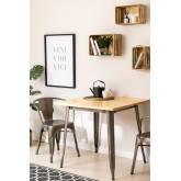Table à manger carrée en bois (80x80) LIX Brossé, image miniature 1