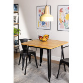 Table LIX Vintage en Bois (80x80), image miniature 1
