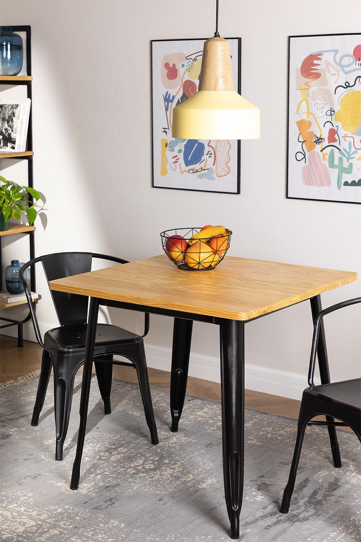 Table LIX Vintage en Bois (80x80), image de la galerie 1