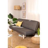 Canapé-lit 3 Places en Lin et Tissu Orbun Colors, image miniature 1