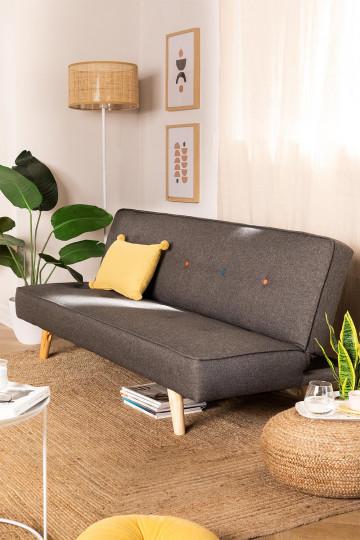 Canapé-lit 3 Places en Lin et Tissu Orbun Colors