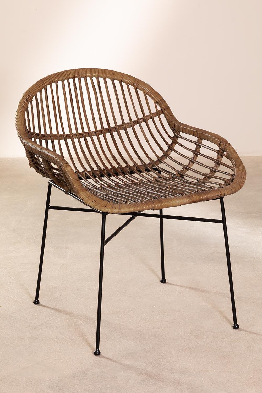 Chaise de salle à manger en rotin Nesse, image de la galerie 1