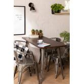 Table LIX Brossée en Bois (120x60), image miniature 1