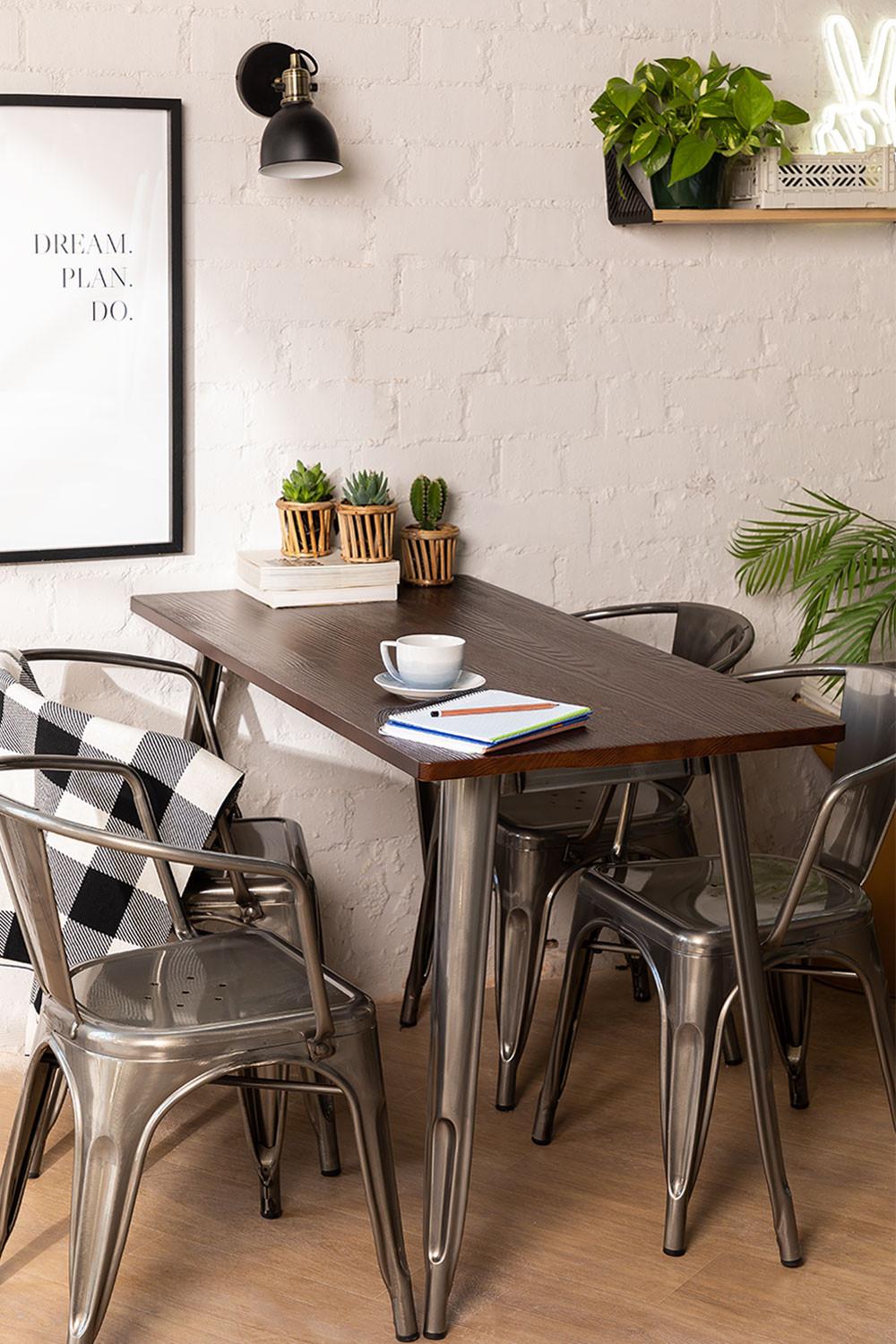 Table LIX Brossée en Bois (120x60), image de la galerie 1