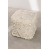Pouf carrée en laine Drutt, image miniature 2